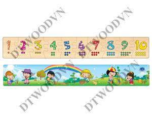Number jigsaw puzzle