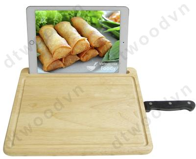 Cutting board with Ipad and Knife holder
