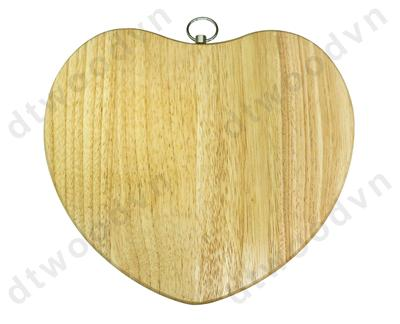 Heart shaped cutting board with rotation ring