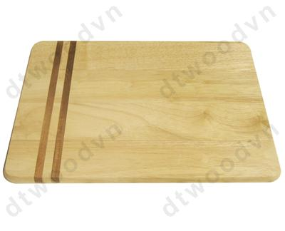 Rect. cutting board with silk printed stripes