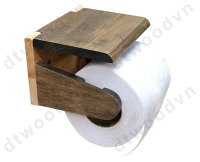 Toilet paper holder with antique lid