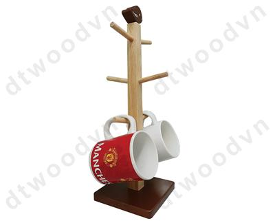 Mug tree with bird top & square base in NC color