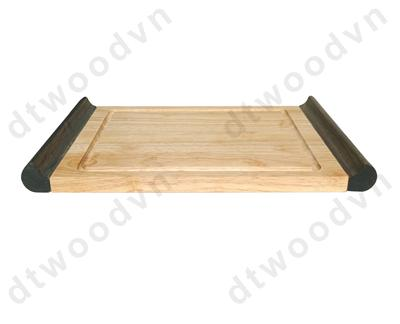 Tray with groove and antique handle