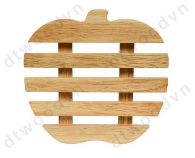Apple shaped trivet