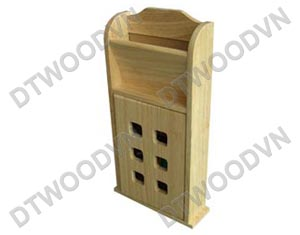 Key box with letter holder, front door with square holes