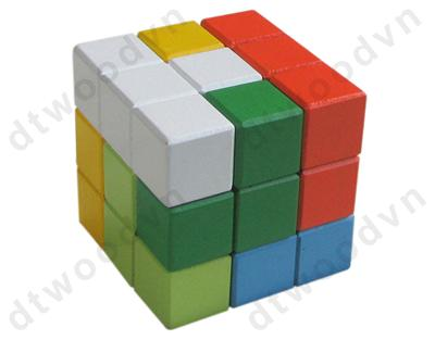 Colorful rubik cube with CE mark
