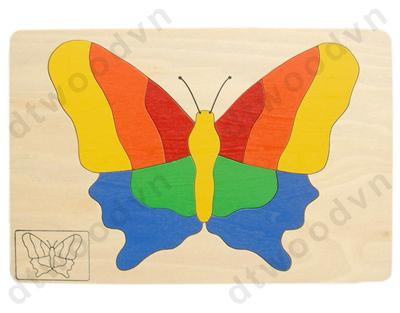 6124 2BU: Animal puzzle - Butterfly with CE mark