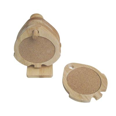 Set of 5 cherry cork coasters