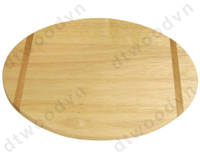 Oval cutting board with silk printed stripes