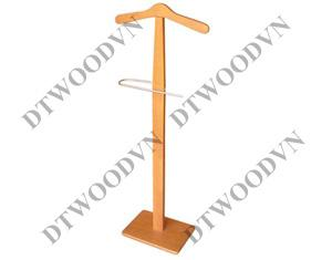 Vest hanger with curved stainless steel, rect. base K/D - Natural color