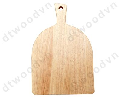 Square cutting board with beveled handle