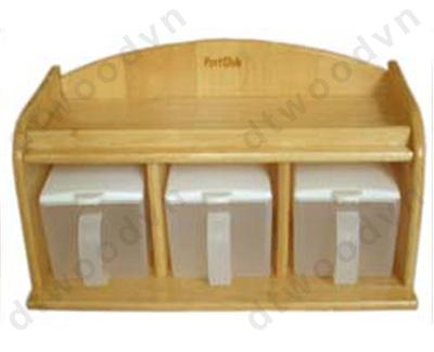Spice holder - without plastic boxes - with 3 plastic boxes