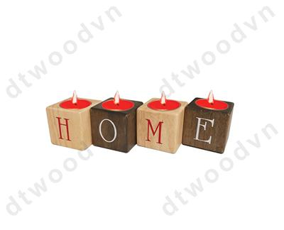 4 candles holder with LOVE