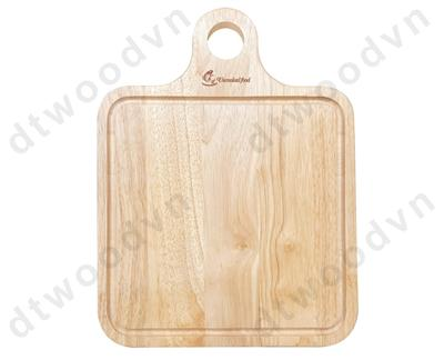 Large square cutting board with hole and groove