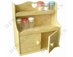 Spice holder with heart hole handle, 2 doors, plywood bottom