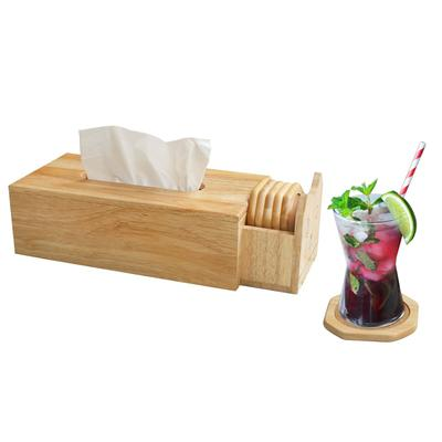 Tissue Box with Coasters