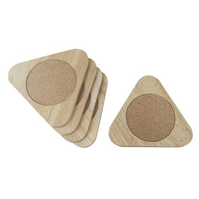 Set of 5 triangle coasters