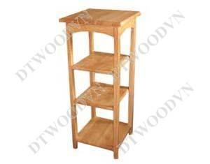 Square telephone table, 4 tiers, straight legs, K/D