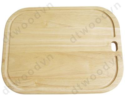 Round corner cutting board with hanging hole and groove