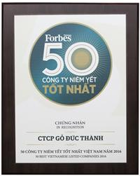 Duc Thanh in Forbes Top 50 Best Company