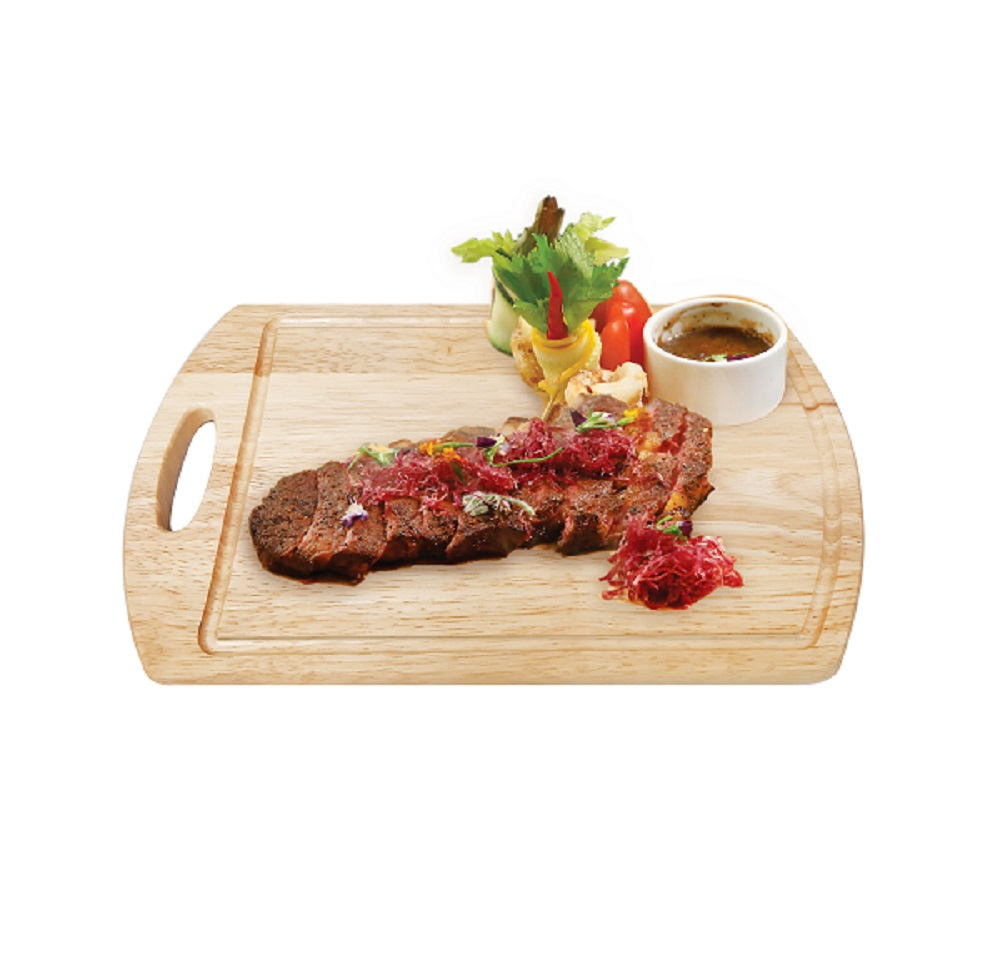 Cylinder cutting board with handle and groove