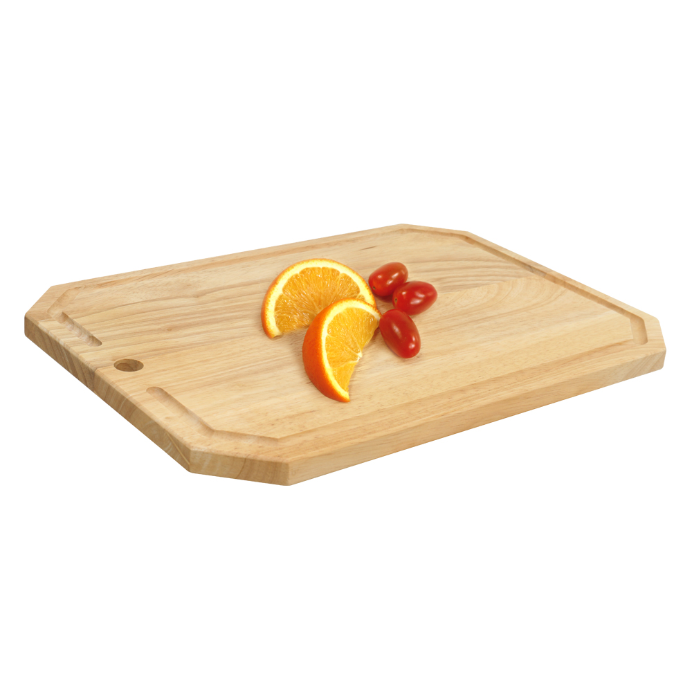 Rect. cutting board with bevel corners and groove