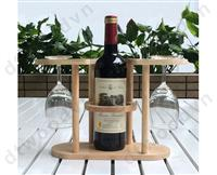 2-layer bottle & glasses stand, K/D