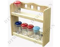 2-tier spice rack with 3-square hole handle