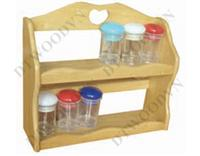 Spice rack, 2 tiers, with heart hoe handle