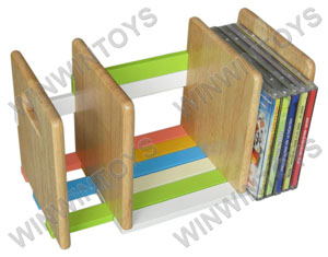 Mini CD rack with color bars, assembled
