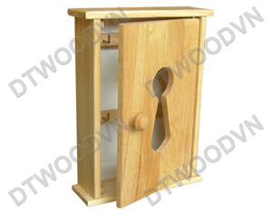 Key box with key-hole style with knob
