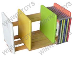 Mini CD rack with color sides assembled
