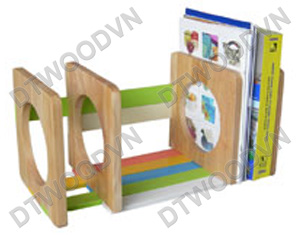 Book stand with color bars, assembled