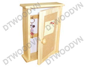 Key box with cork door