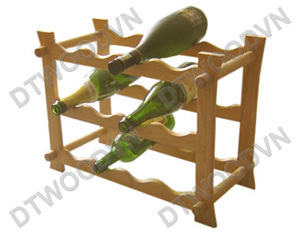 Bottle rack for 12 bottles, 3 tiers,  K/D