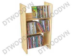 75-CD rack, 3 tiers, natural color, K/D