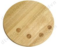 Round cutting board with silk printed dots