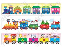 Three train jigsaw puzzle