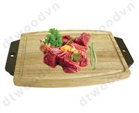 Cutting board and serving tray with antique handle